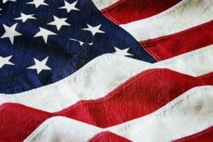 American flag with a canvas and paint texture