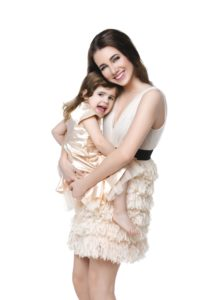 Beautiful mother and child