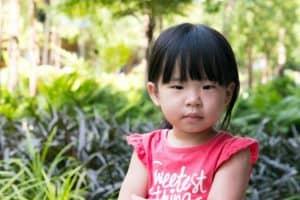 Portrait of beautiful asian child