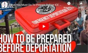 immigrant preparation before deportation