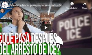 preparation before ICE arrest