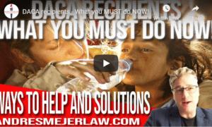 what DACA recipients must do