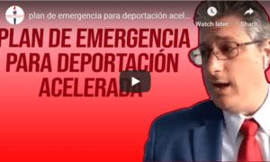 expedited deportation emergency plan