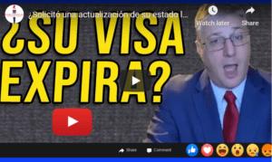 visa expiration during legal status update