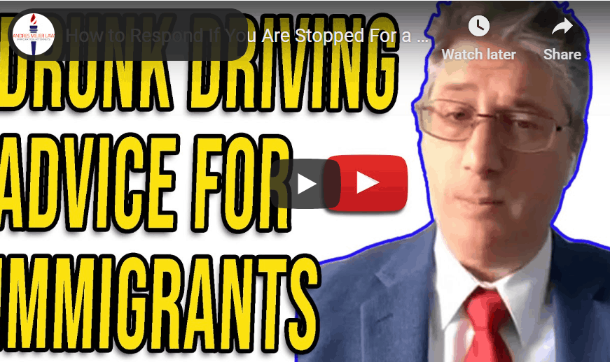 drunk driving advice for immigrants